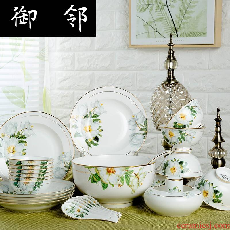 Propagated gifts tableware dishes ipads porcelain tableware 28/60 head paint ou shi lh dishes of jingdezhen ceramics