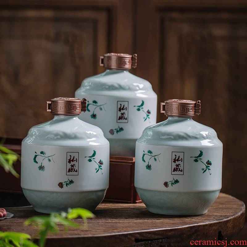 1 catty the an empty bottle with jingdezhen ceramic bottle wine jar 3/5 jin ancientry hip sealed empty bottles of liquor