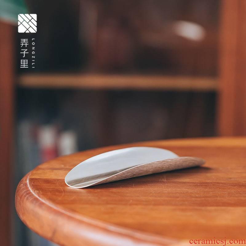 In silver tea is wings tattooed kung fu tea tea run shovel teaspoon of tea tea zero with Japanese manual
