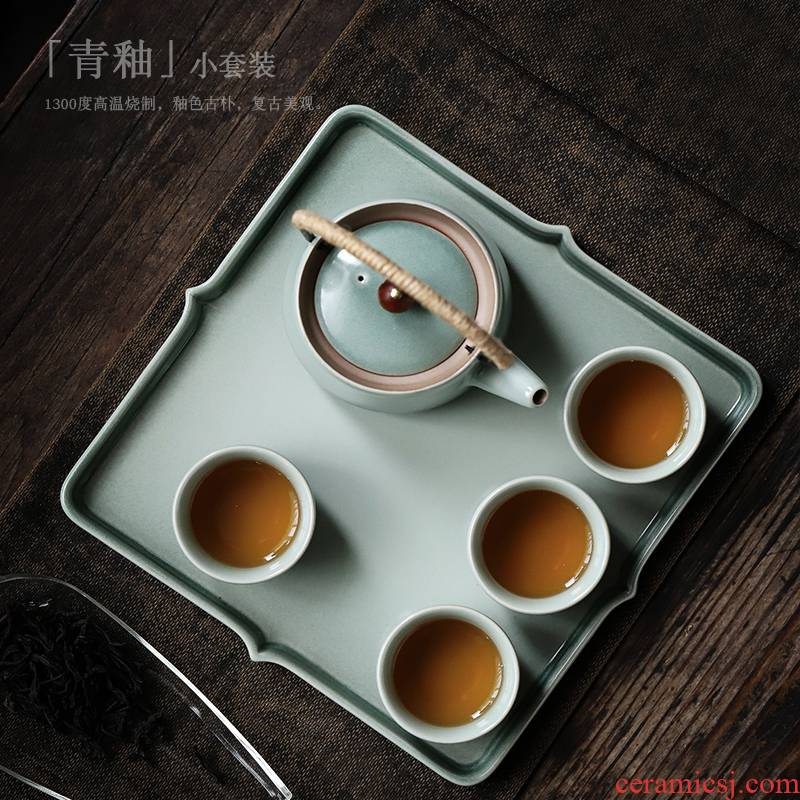 ShangYan ceramic tea sets, small household contracted kung fu tea tea tray of a complete set of the sitting room with tea suit modern