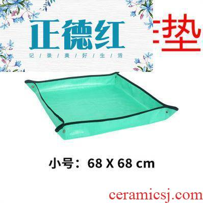 Flowerpot leakproof mat bottom breathable mesh plastic gardening bottom intake faceplate leak mesh very bottom