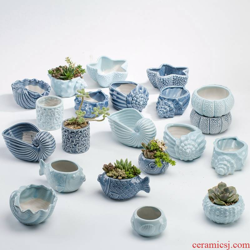 Fleshy flower POTS in the ceramics of the large diameter special offer a clearance creative platter Fleshy the plants flower pot