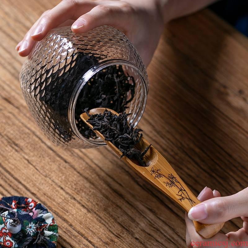 Fujian and black TanShi MuZhu tea is household contracted tea spoon teaspoon of Japanese kung fu tea tea taking take tea