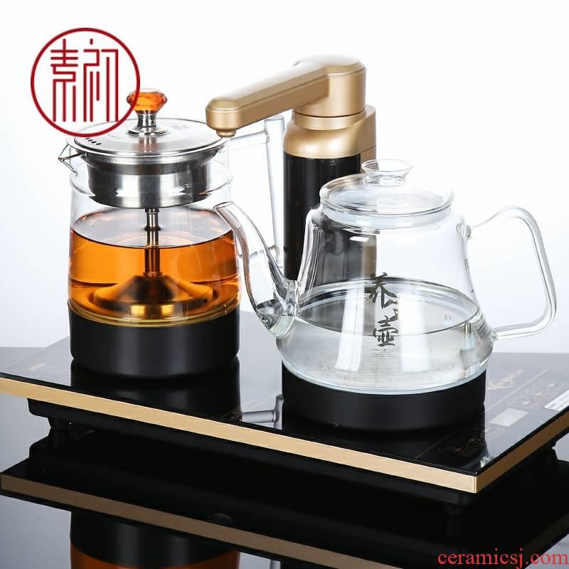 Plain water at the beginning of tea sets of automatic water boiled tea tea sets tea tray kettle steam embedded induction cooker