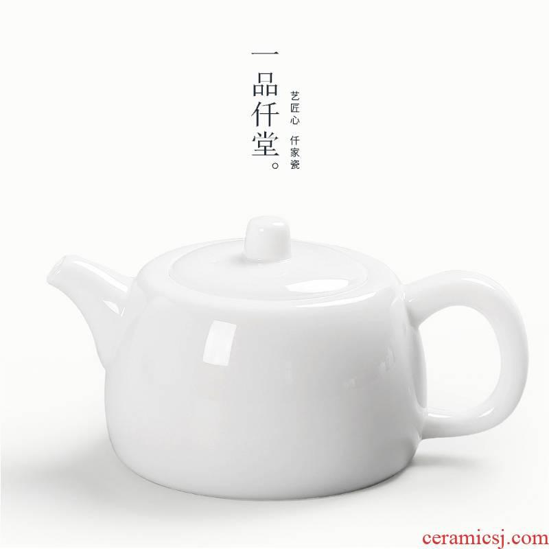 Kung fu tea set yipin thousand jade hall dehua porcelain teapot tea pot of fine white porcelain teapot jade pot pot