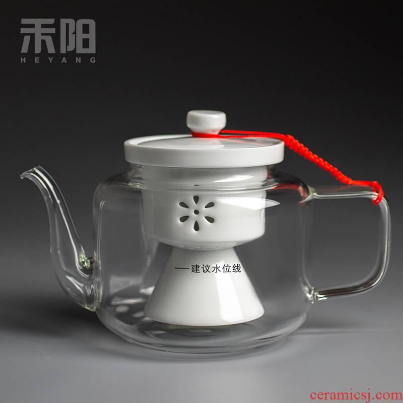 Send Yang glass steaming kettle high - temperature steam'm pot boiling tea household utensils electric TaoLu tea