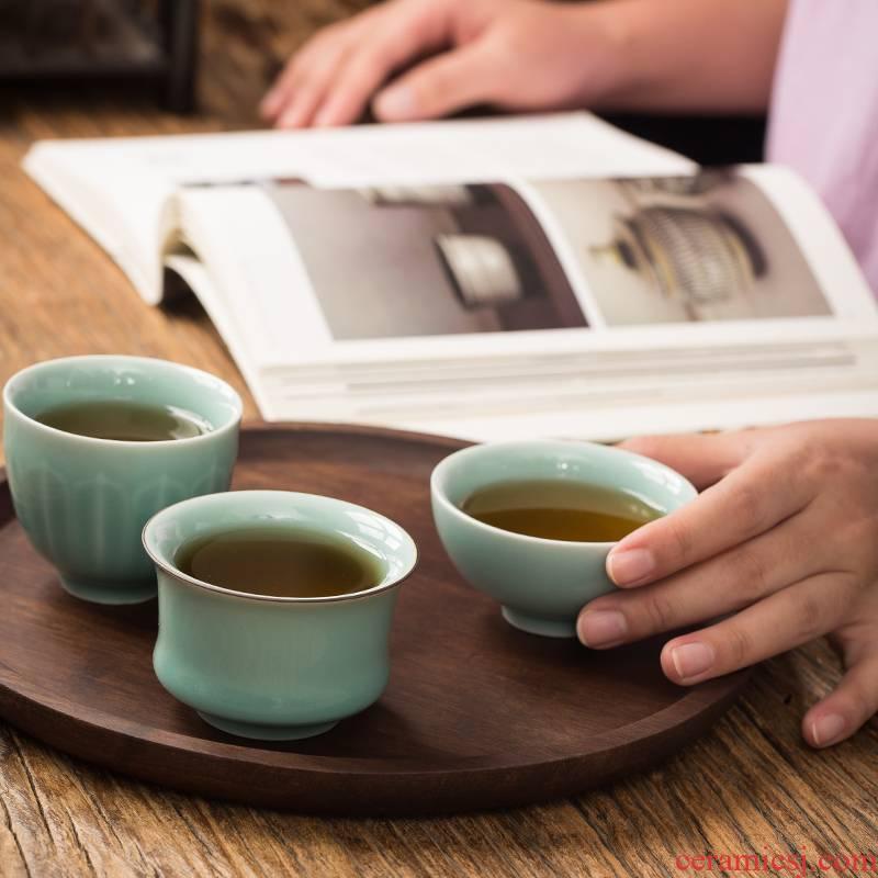 Xu ink longquan celadon kung fu tea cup single CPU master cup sample tea cup individual cup large bowl tea cup