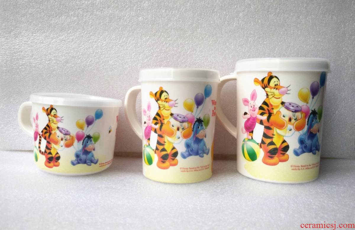 A String of guest melamine tableware pooh cup keller large/medium/small milk cup with cover cup