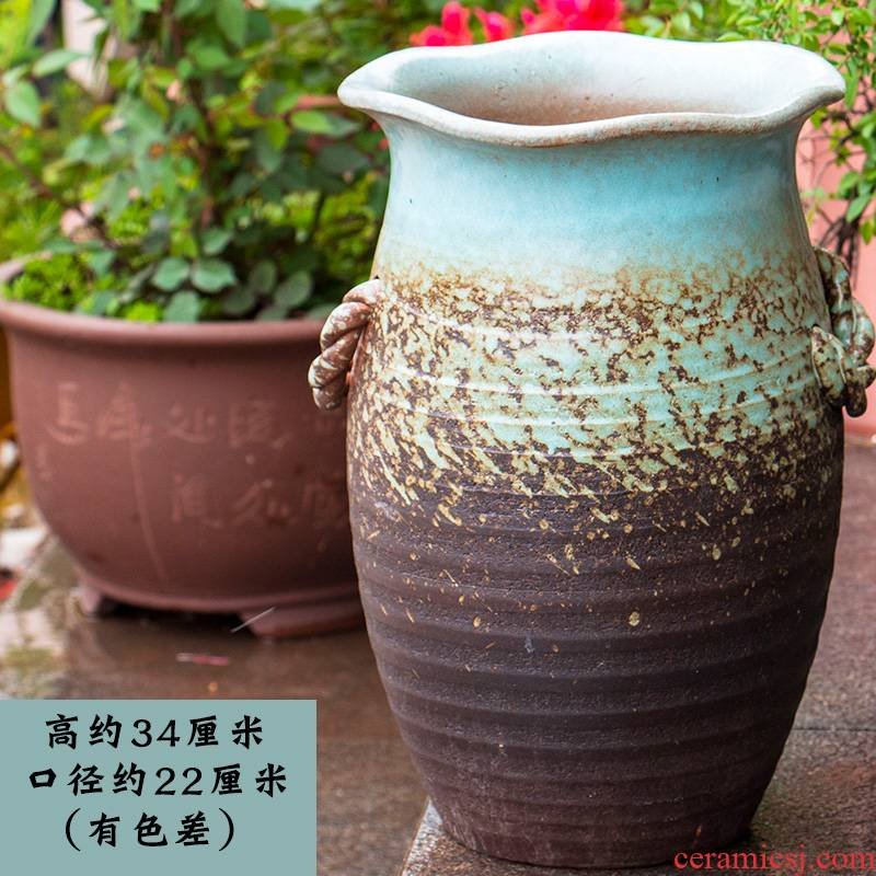 High big flowerpot coarse pottery, fleshy TaoShuang ear plant orchid rose ceramic mage old running the flowerpot