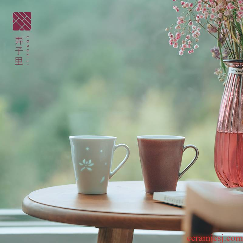 Lane. Jingdezhen ceramic keller to exquisite glass cup of milk for breakfast to send cups of coffee cup