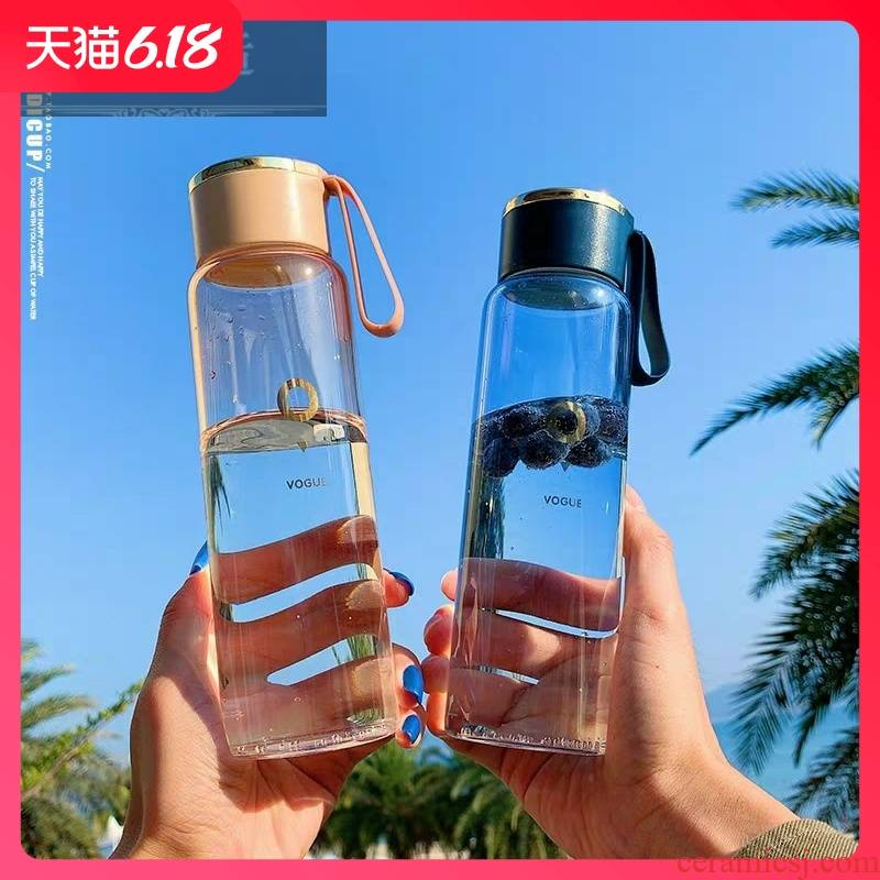 Guest comfortable ins hold gradual change trend of the glass with lift rope portable lovers with 400 ml tea campus men and women