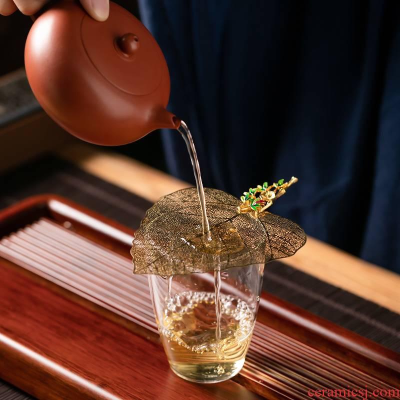 Fujian and copper bodhi tea filter retro home tea filters) kung fu tea tea strainer tea accessories