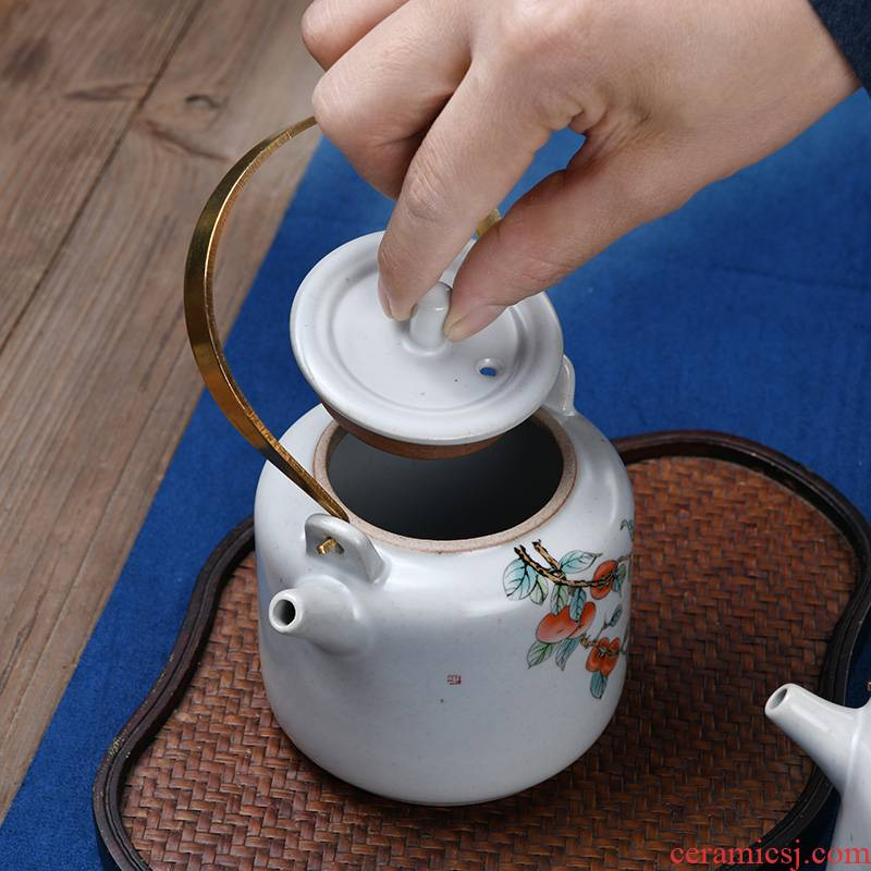 Xu teapot ceramic ink your up archaize kung fu home open filter single girder pot a pot of tea kettle is large