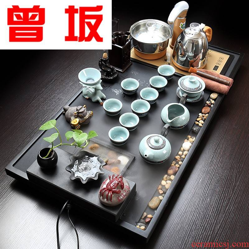 Once sitting contracted household whole sharply stone size atomized water tea tea tray was violet arenaceous kung fu tea set