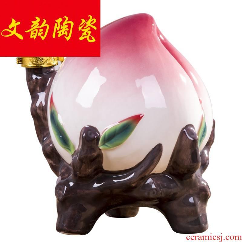 Jingdezhen 5 jins of the loaded peach ceramic jars a gift birthday furnishing articles storage bottle it jugs