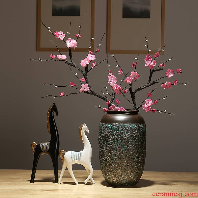 Jingdezhen ceramic vases, dried flower adornment furnishing articles sitting room simulation flower decoration decoration ware porcelain flower arranging