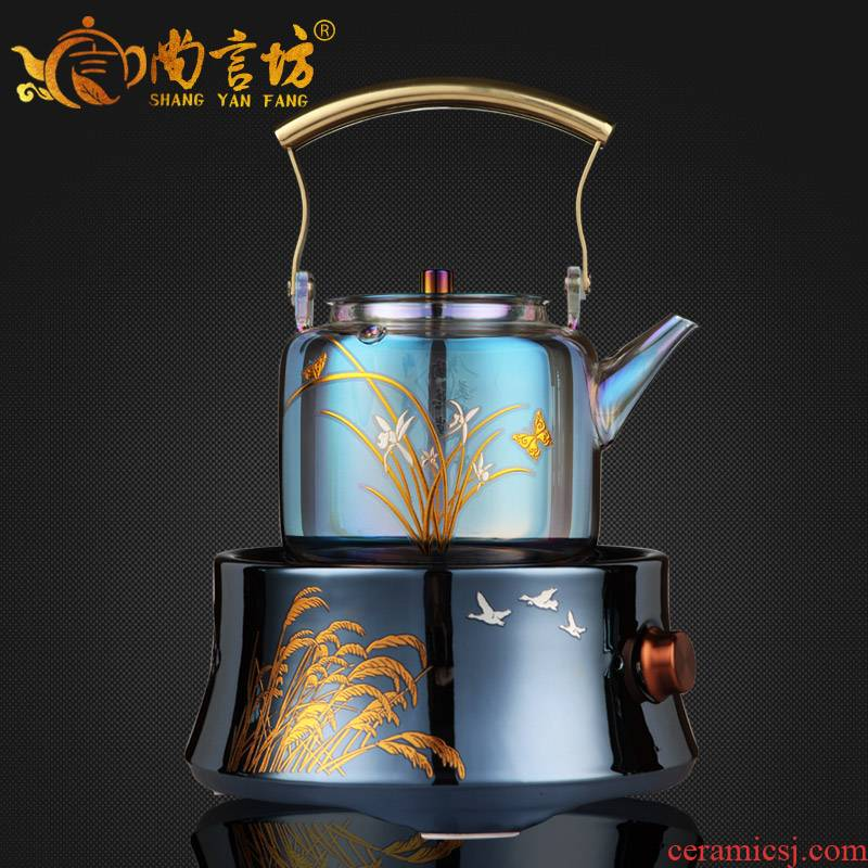 It still fang bei color burn glass kettle boiling teapot high - capacity tea tea, teapot electric TaoLu household
