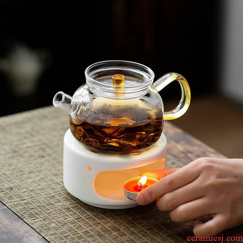 Japanese temperature ceramic teapot tea stove based base kung fu tea tea boiled tea stove heating insulation alcohol restoring ancient ways