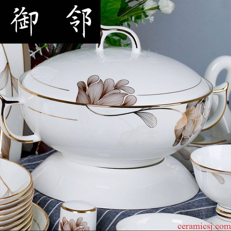 Propagated new ipads porcelain tableware ceramic bowl dish dish spoon set tableware gift set
