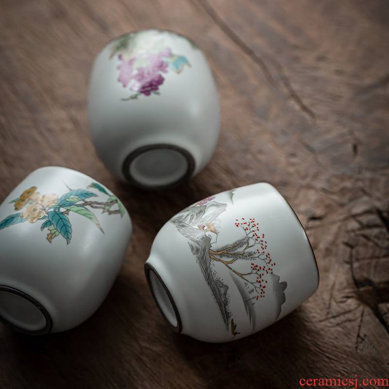 Which your up sample tea cup tea master individual cups, jingdezhen ceramic cups on a small tea cups