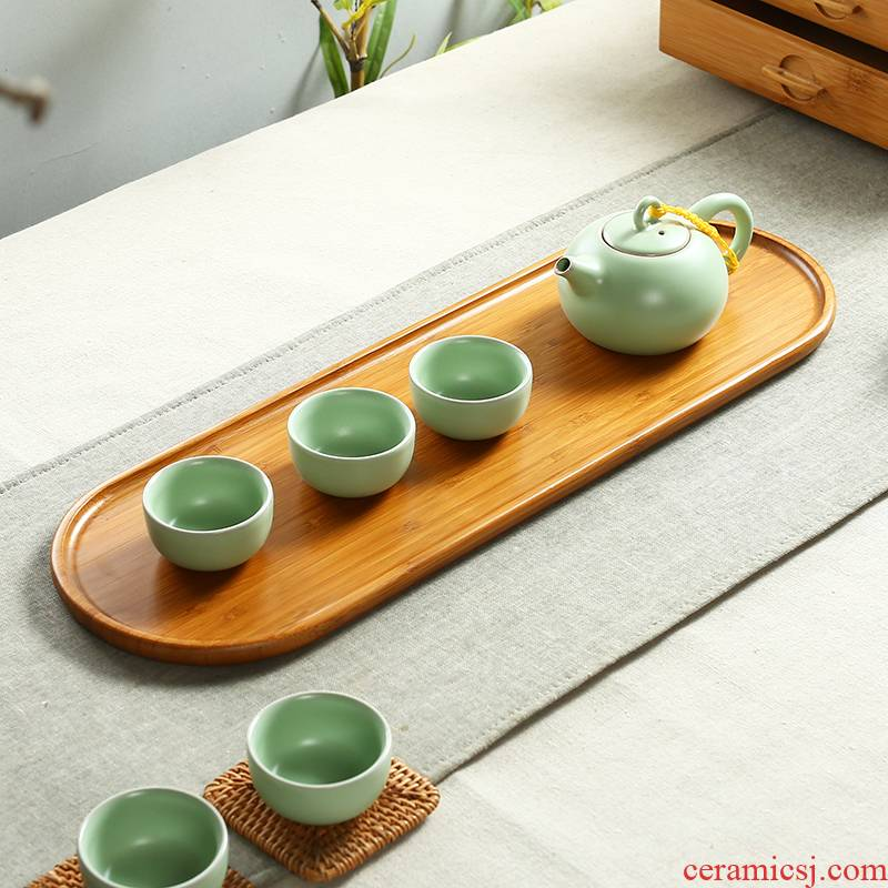 Art of bamboo tea tray household bamboo plate dry plate of kung fu tea tea sets tea saucer haida small optional