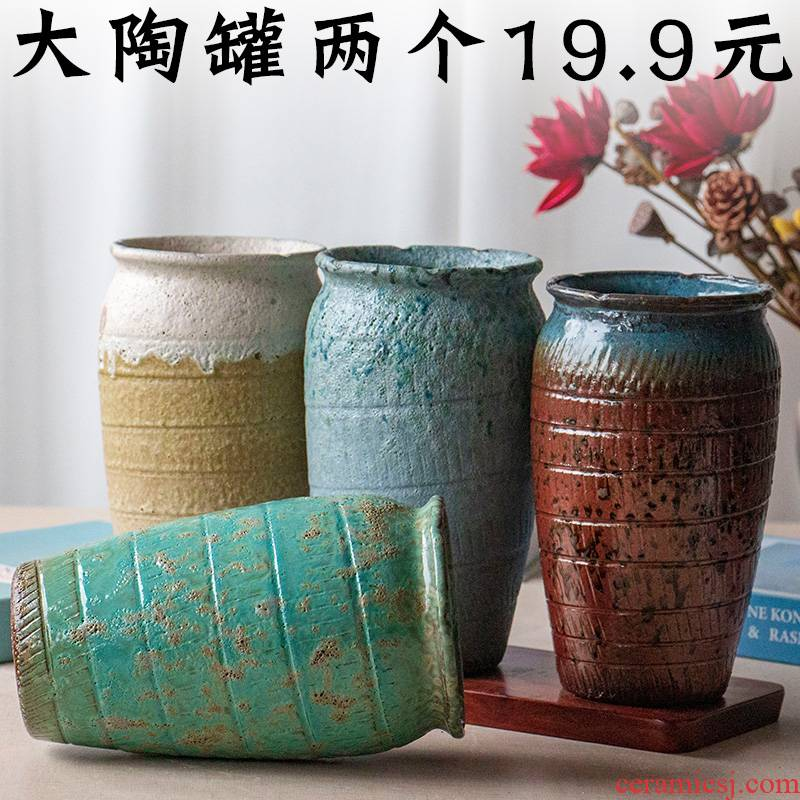 More meat high pot straight coarse pottery rose plant orchid ceramic POTS mage old running heavy pot