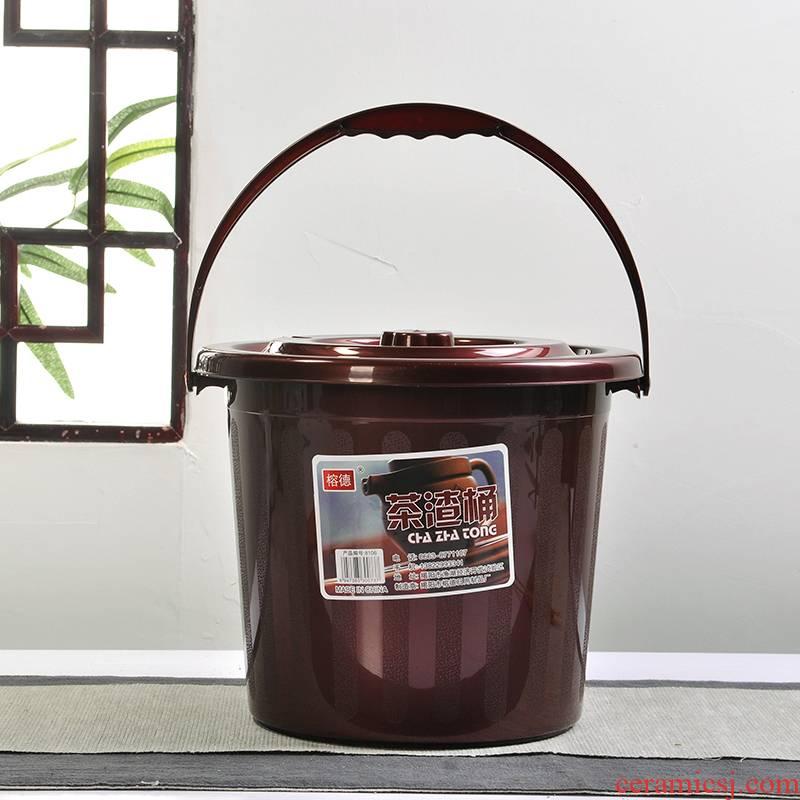 Art of hot plastic bucket of tea tong kung fu tea set spare parts plastic bucket tea connect hose filter barrels