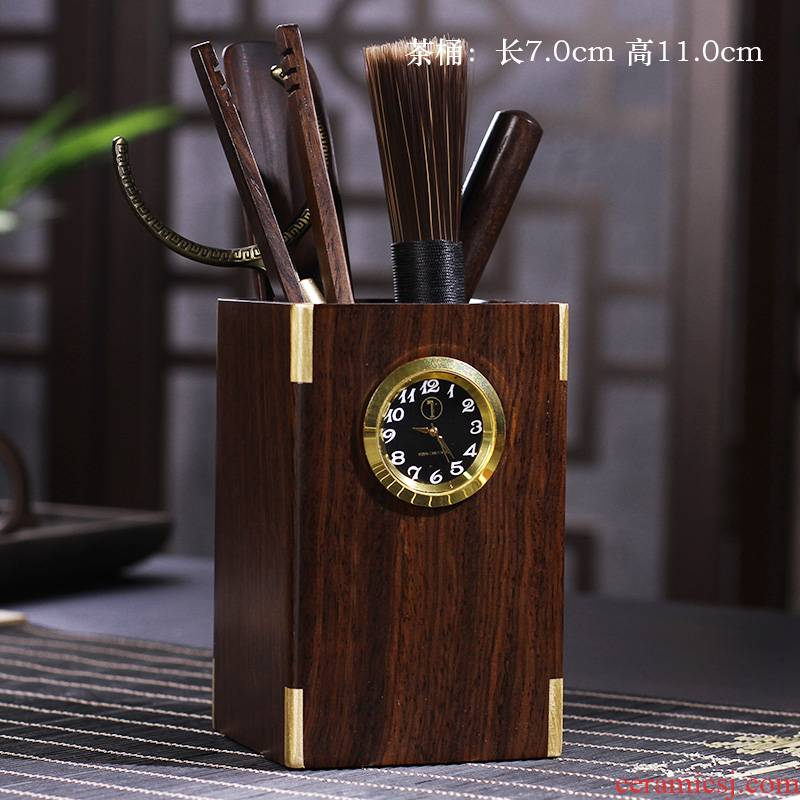 In building ebony tea six gentleman tea tin ChaGa tea spoon tea brush set tea tea tray accessories furnishing articles