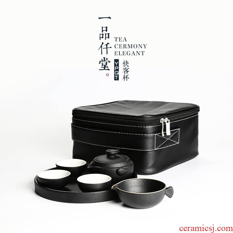 Yipin # $ceramic crack contracted a pot of three teapot travel kung fu tea set suit portable package
