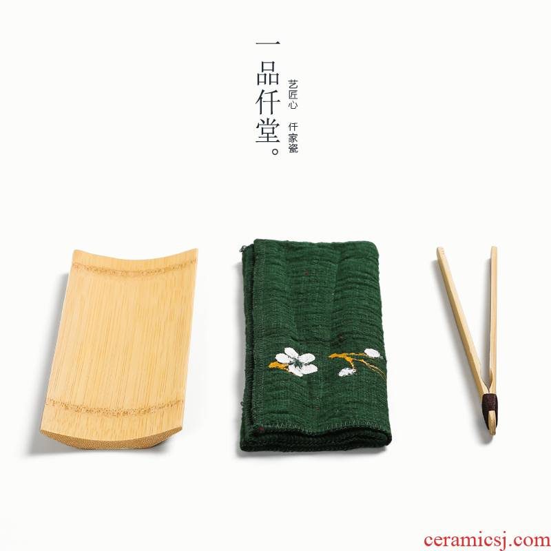 Yipin # $hand - made cotton tea towel upset a pot of insulation absorbent cloth kung fu tea tea table ChaGa bamboo