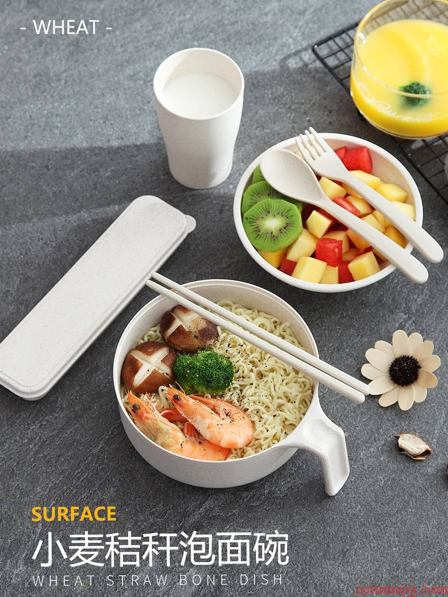 ; Mercifully rainbow such as bowl with cover the instant noodles bowl chopsticks lunch box single student workers cup suits for PK ceramic tableware