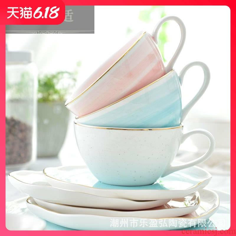 Hold to guest comfortable European creative ceramic coffee cups and saucers small key-2 luxury home a single afternoon tea set Italian black tea places