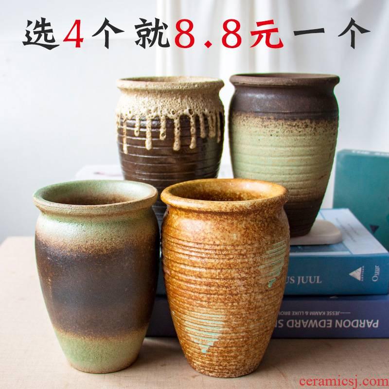 Fleshy flower pot through pockets ceramic POTS tall, meaty plant flower POTS, ceramic old running the mage flowerpot wholesale