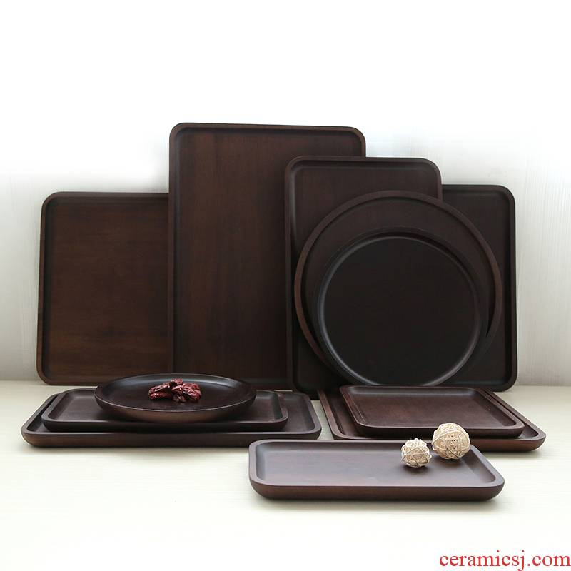 In building Chinese heavy bamboo tea tray storage type tea tray was dry home bamboo bearing small pot pot of water
