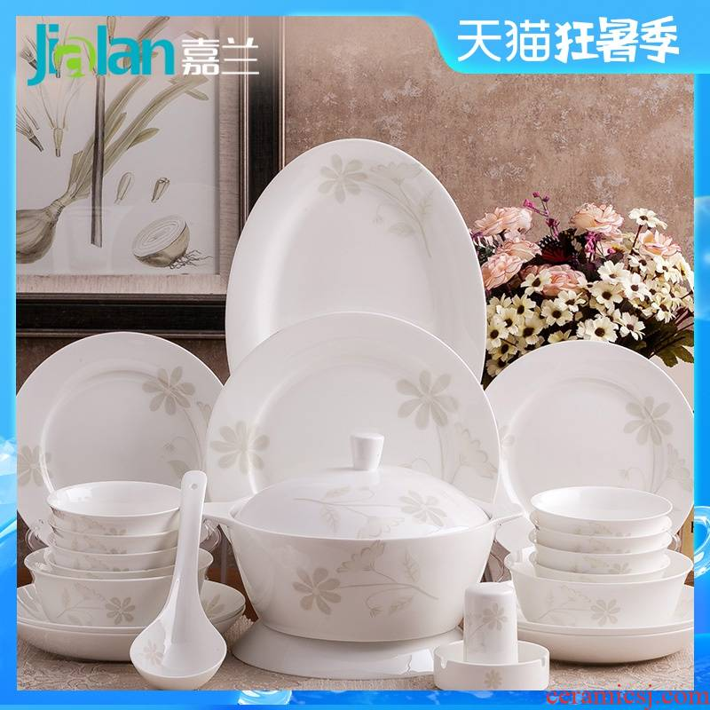 28/56 garland skull porcelain tableware contracted spoons chopsticks dishes dish wedding gift set porcelain suits for