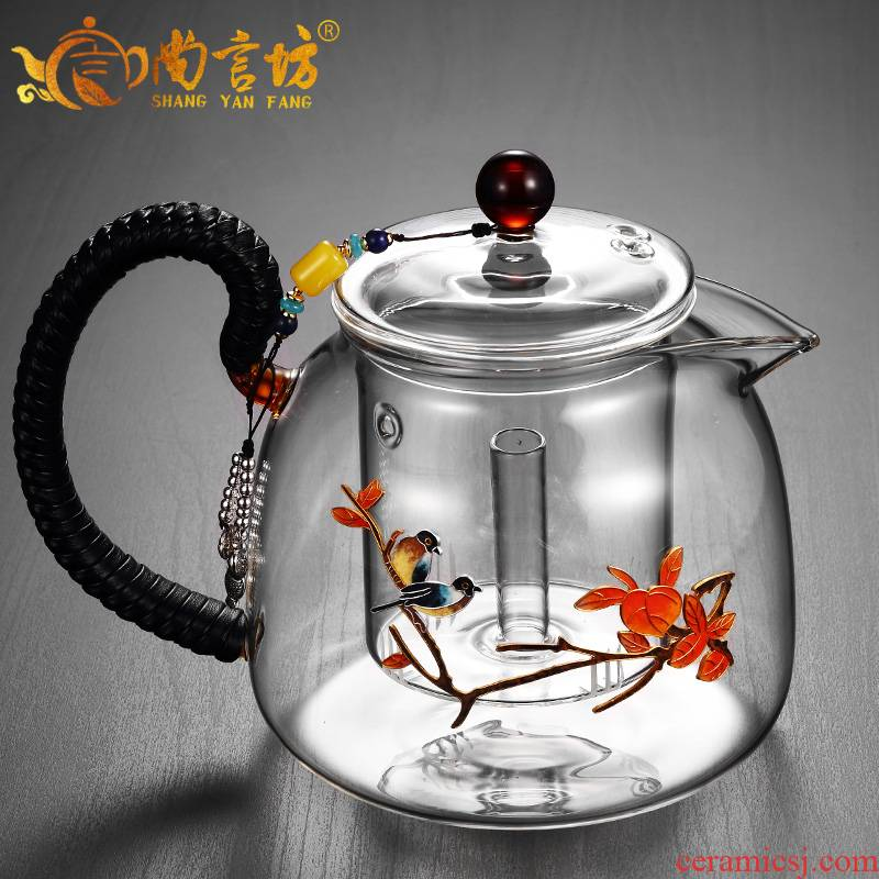It still fang glass cooking pot boiled red tea ware to hold the network trill kettle kung fu tea mercifully single pot of flower pot