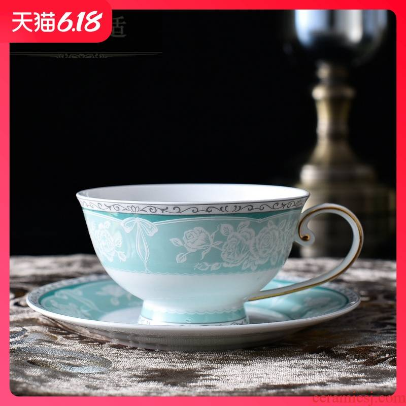 Hold to guest comfortable European creative see colour edge ipads China coffee cups and saucers couples cup English afternoon spent ceramic gifts cups
