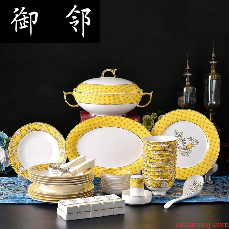 Propagated chaozhou ipads porcelain tableware suit the new 2018 listed European bowl dishes can be