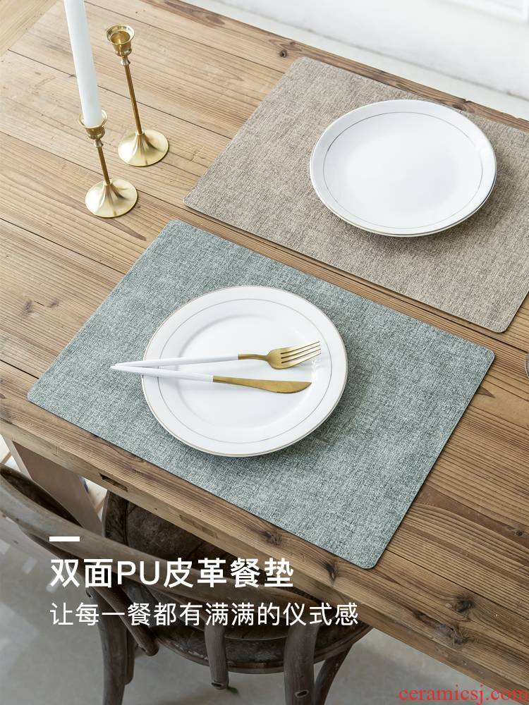 The Eat mat waterproof and oil Nordic anti hot insulation plate mat mat table household tableware mat ins wind western - style food