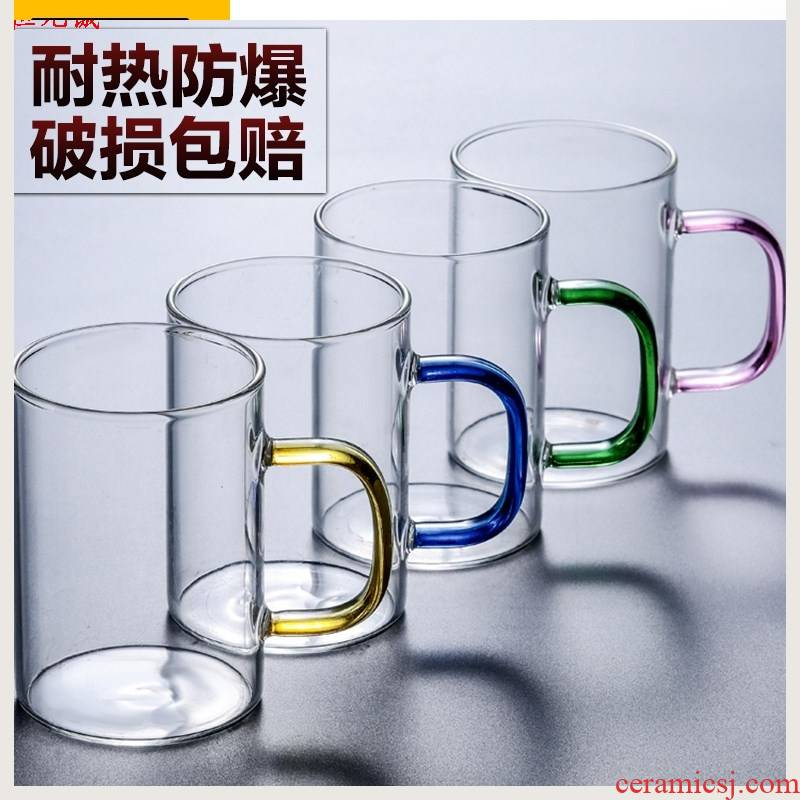 The New heat - resistant transparent glass suits for in the living room with large capacity make tea the ultimately responds cup milk cup