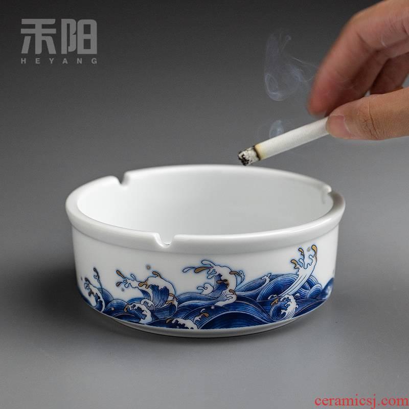 Send Yang mare undarum pentium ashtray large Chinese style restoring ancient ways individuality creative ceramic ashtray home sitting room office