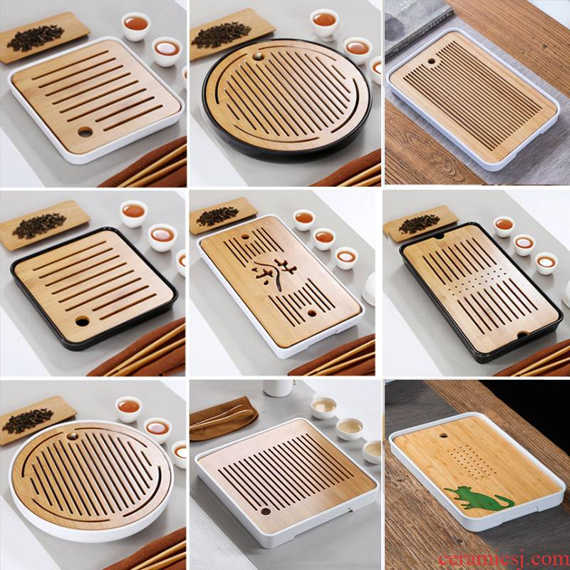 Bamboo tea tray was the home of kung fu tea tea sets tea saucer contracted and I water tray was mini small teahouse