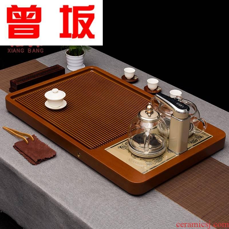 Once sitting bakelite tea tray automatic kettle package tea tea sea kung fu tea set a rectangle drainage the saucer