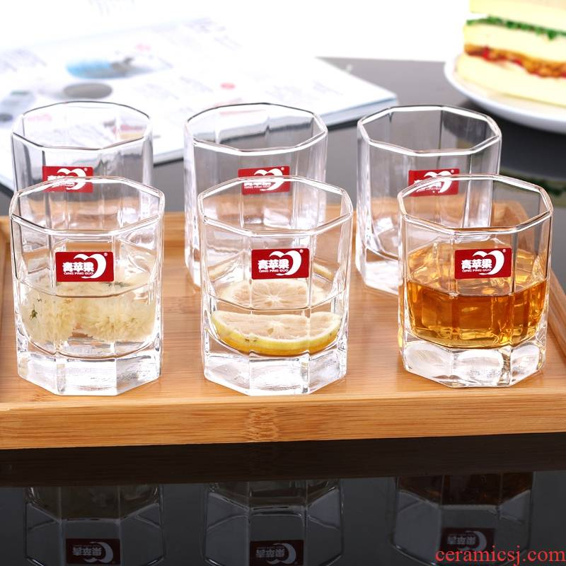 A String of guest lead - free household transparent heat - resistant glass octagon cup of square cup tea ultimately responds fruit juice cup