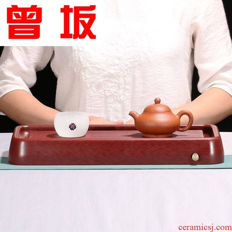 Once sitting bakelite tea tray, with bakelite rounded rectangle yixing kung fu tea tray was ground tea tea sea contracted