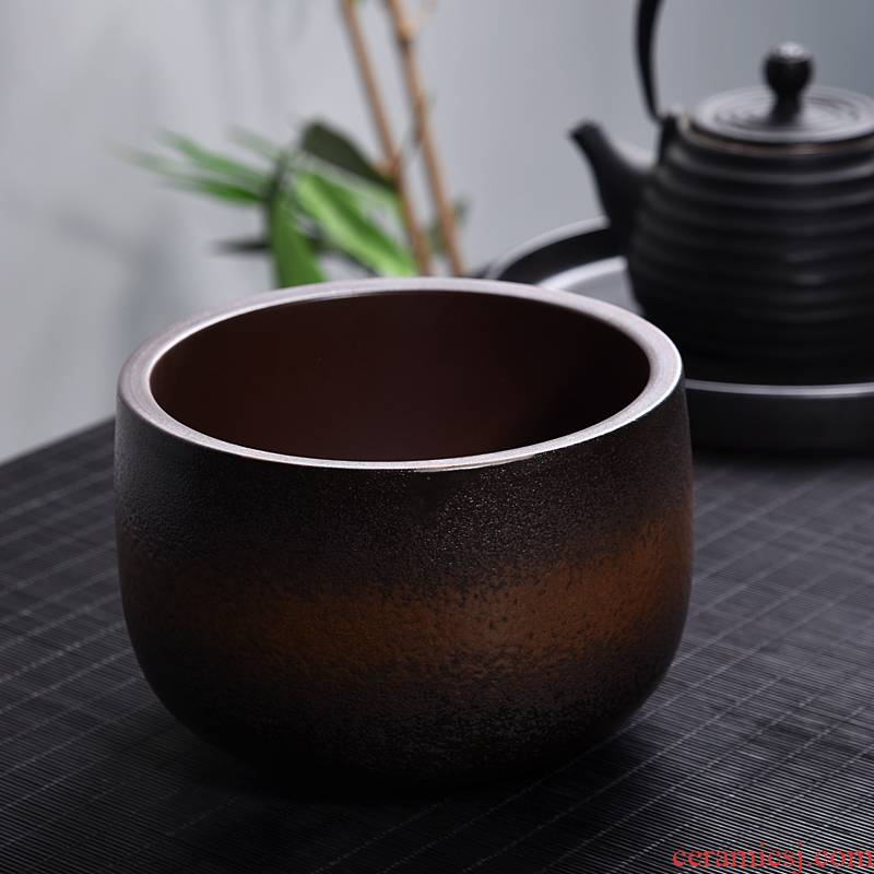 Modern Japanese dry mercifully tea tea set zero washing ceramic building for wash in hot water cylinder coarse pottery cup XiCha move
