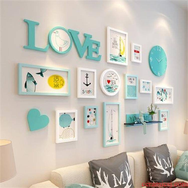 Wall act the role ofing creative milk tea shop sitting room room metope adornment move Wall hang a picture to hang a web celebrity indoor restaurant