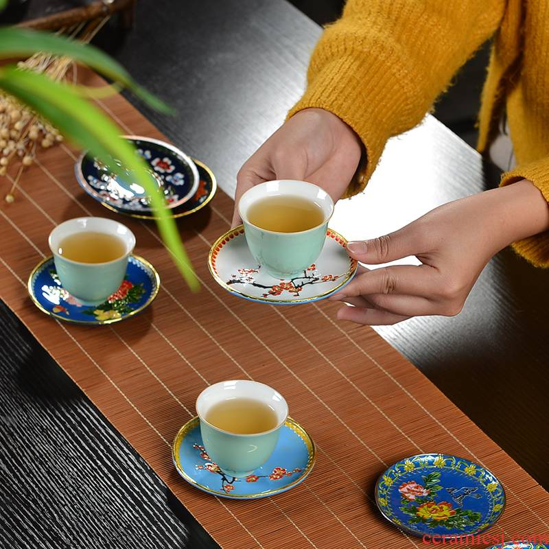 Cloisonne cups of ink pad metal alloys hold heat insulation cup cup mat doesn cups tea tea accessories