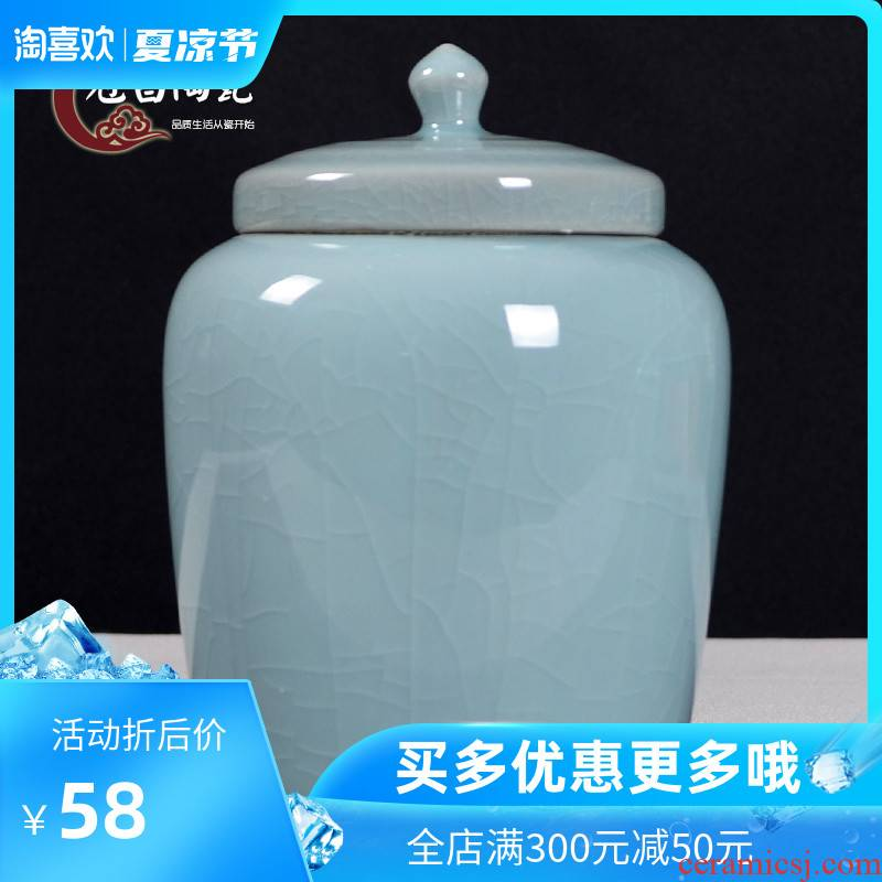 Back economic prosperous elder brother up with ceramic tea pot large open piece of general sealed jar jar of contracted and easy moisture storage jar