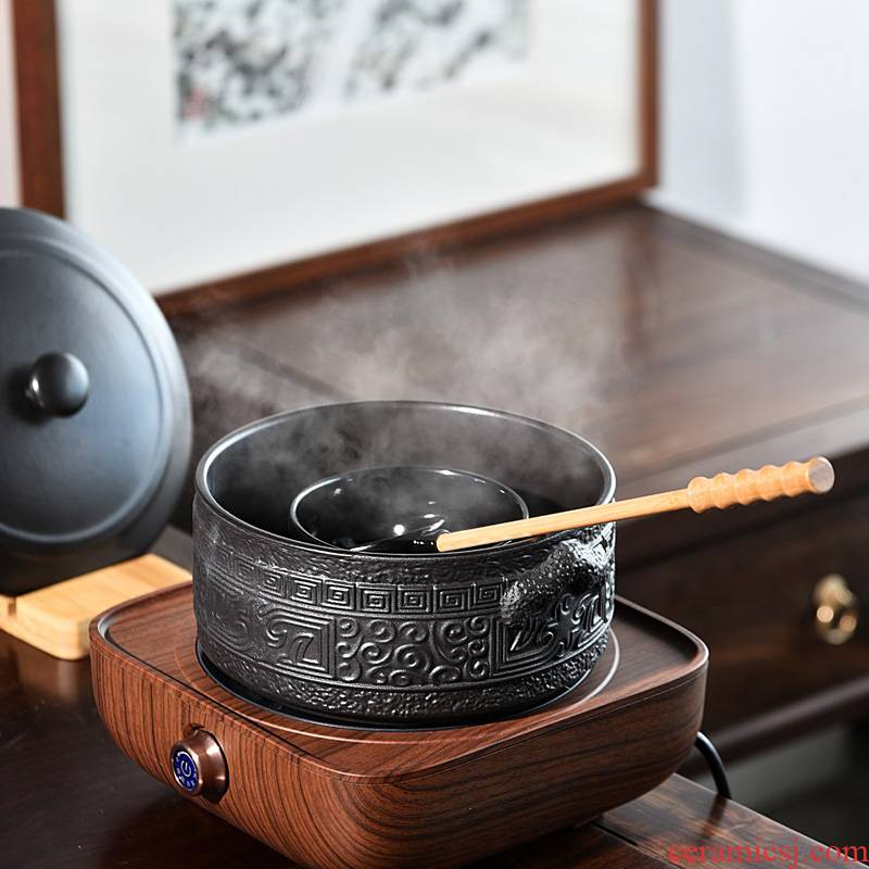 Ceramic boiling tea machine electricity TaoLu suit and white pu 'er tea teapot household electric TaoLu boiled tea pot set restoring ancient ways